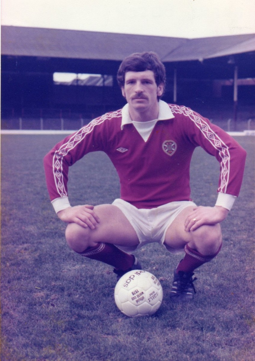 87e90eba696 A powerhouse striker or attacking midfielder, Drew Busby was immensely  popular in a maroon shirt, because he was always fully committed to Hearts  and ...