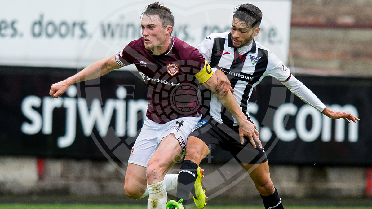 John Souttar captains the Hearts side