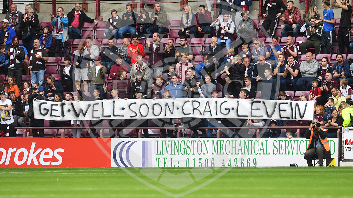 The fans show their appreciation for Craig Levein